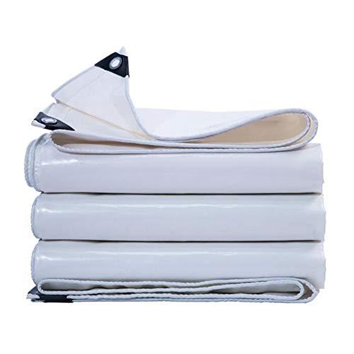 CJC Markisen Plane PVC-Überdachung Tarps wasserdichte Abdeckung Zum Dach Camping Zelt Lastwagen Wohnmobil, Reiß- Und Reißfest (Color : White, Size : 6x10m) -