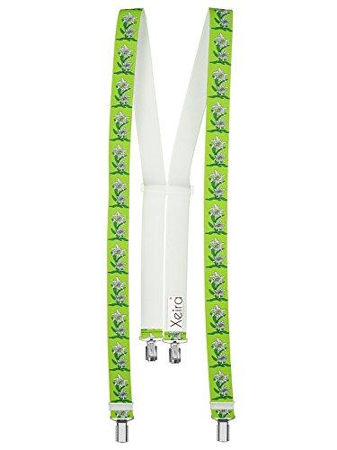 Xeira  Hochwertige Edelweiß Hosenträger von (Normale Länge, Mint Grün)