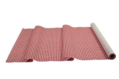 Fachhandel für Vliesstoffe Sensalux Tischdeckenrolle, stoffähnliches Vlies, Oeko-TEX Standard 100 - Klasse I Zertifiziert, 1m x 25m, Karomuster