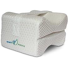 Deportes Medica de espuma con efecto memoria funda de almohada–suave tela de Airtech–incluye correa de pierna