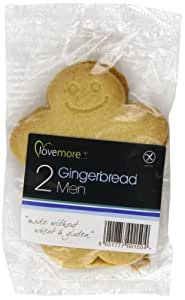 Lovemore Gluten Free Gingerbread Men Biscuits Twin Packs Individually Wrapped (Pack of 12 Twins, Total 24 Biscuits)