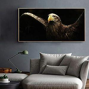 Moderne Tierkunst Poster Und Drucke Wandkunst Leinwand Malerei Adler Spreizflügel Bilder Für Wohnzimmer Wohnkultur Kein Rahmen 20x40 cm Kein Rahmen NP167
