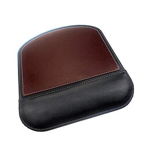 Maus Pad mit Handgelenkauflage, Maus Pad mit rutschfester PU Boden Mauspad für Zuhause, Büro & Travel brown-1 Brown Böden