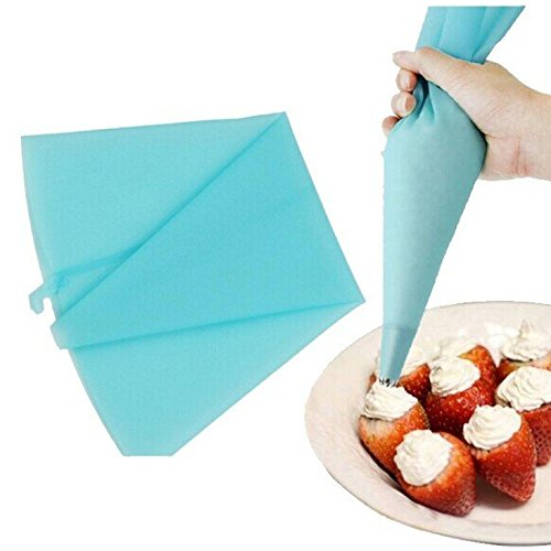 PINDIA Food Grade Silicone Pastry Bags For Cake Cupcake Reusable Cream Pastry Icing Bag Piping Bag Cake Decorating Tool ( Small Size : 12.6 Inch )