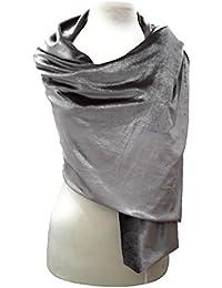 BRANDELIA Estola Terciopelo Mujer Chal Elegante Complemento Ideal para Vestido de Fiesta y Ropa de Vestir. Hecho a Mano en España