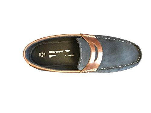 Red Tape Wardon hommes en daim mocassins / Chaussures Bleu Marine