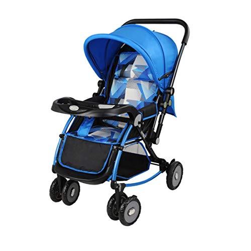 BabyCarriage Kinderwagen, leichtes Kind Falten einfachen Kinderwagen, Wiege Schock Gute Zwei-Wege-Kinderwagen für Neugeborene
