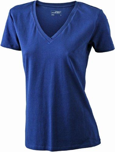 James & Nicholson Damen T-Shirt Stretch Vee XX-Large navy (2014 Blusen)