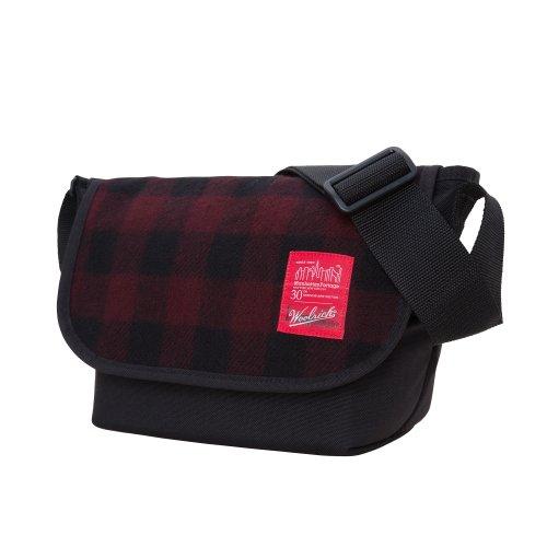 manhattan-portage-woolrich-carreaux-jr-sac-besace-rouge-noir-taille-s