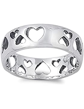 Ring aus Sterlingsilber - Herz