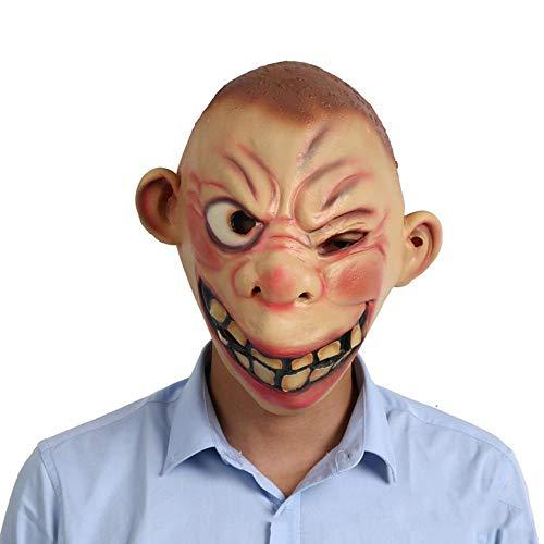Circlefly Halloween Party Leistung Gesichtsmaske Masken Halbe Baotou Maske Erwachsene großes Auge Monster Maske