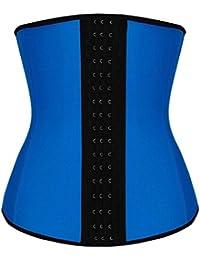 Dilanni - Corsé para mujer de látex con corchetas de acero, transpirable, para dar forma a la cintura