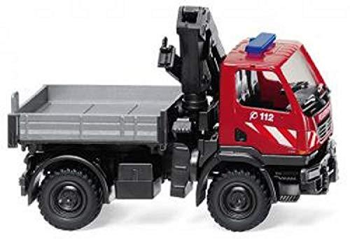 Wiking 060131 Feuerwehr Unimog U 20 m. Ladekran - Miniaturmodell 1:87