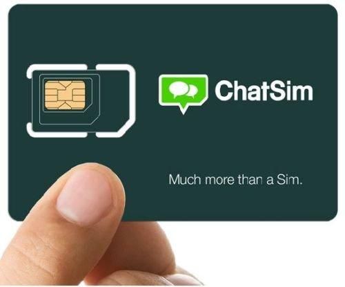 ChatSim Unlimited - Tarjeta SIM Internacional para chatear con WhatsApp y otras...