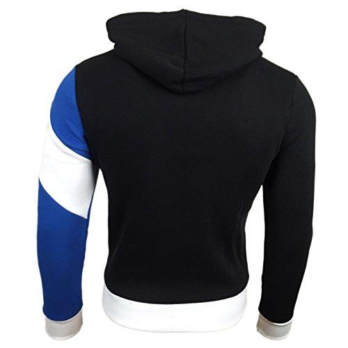 Kapuzenpullover Steppjacke Sweatshirt Kapuze Hoodie Herren Pullover Top SALE R27 Schwarz - Blau