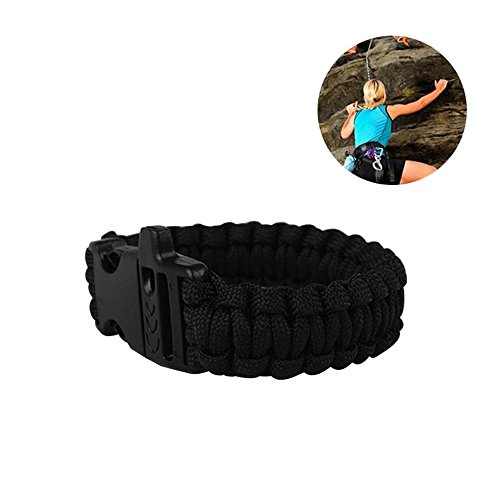 KOBWA Armband Survival Gear Outdoor Kletterausrüstung - Emergency Tactical Parachute Rope Armband (Gear-hilfe-camper)
