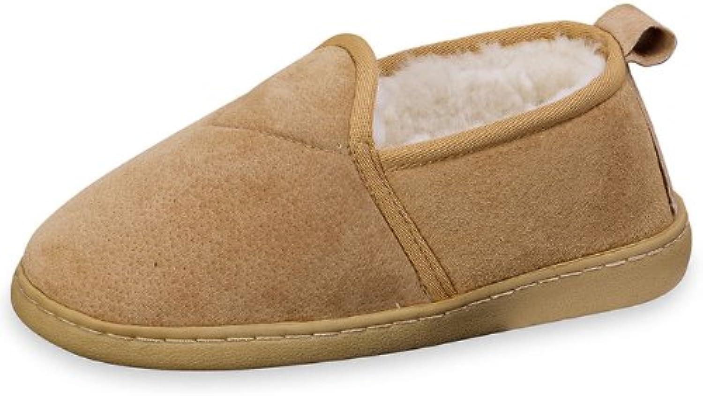 Fellhof - Zapatillas de estar por casa para hombre, color Beige, talla 39.5