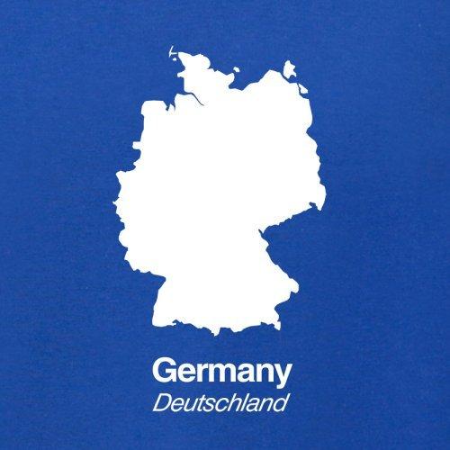 Germany / Deutschland Silhouette - Herren T-Shirt - 13 Farben Royalblau