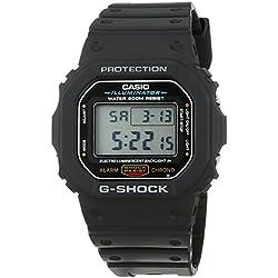 Casio G-Shock Reloj Digital para Hombre con Correa de Resina – DW-5600E-1VER