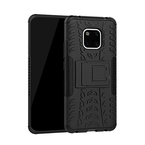 Huawei Mate 20 Pro Handyülle Silikon,Nnopbeclik Huawei Mate 20 Pro Hülle 3D 2 in 1[Eingebauter Ständer]TPU+PC[Dual Layer] Defender Schutzhülle Huawei Mate 20 Case Rugged Armor schwarz
