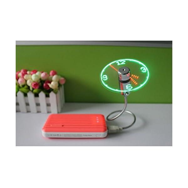 UEETEK-USB-reloj-ventilador-Flexible-USB-Mini-LED-destella-ventilador-programable-editar-Word-para-PC-Laptop-Notebook-escritorio
