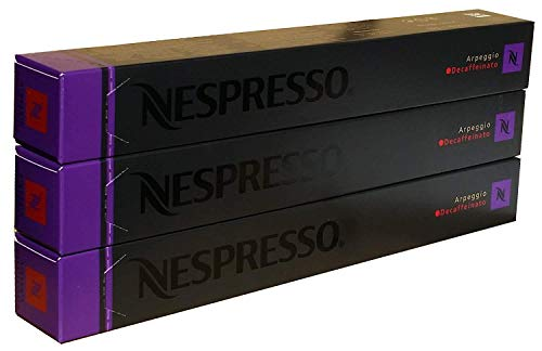 Nespresso Kapseln - Arpeggio Decaffeinato - 30 Kapseln , 3 Packungen - Neu Decaf