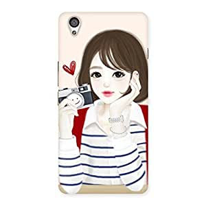 Premium Camera Click Girl Back Case Cover for OnePlus X