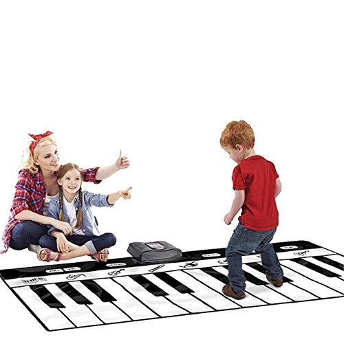 LIULAOHAN Musik-Klaviermatte, große Faltbare 71-Zoll-24-Tasten-Boden-Klaviermatte mit Tape Recording Play Demo, for Musikspielzeug for Kinder (Color : Black+White, Size : 70.8 * 29.1inches) - Tape Lcd