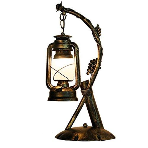 HLJ American Country Retro Schmiedeeisen Tischlampe Kreative Cafe Home Bar Petroleumlampe Lampe Leuchtturm Vintage Lampen -