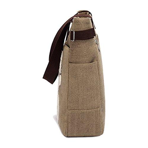 TOOGOO(R) , Damen Schultertasche Small Khaki