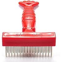 LadyBeauty Pet Bath Special Stainless Peine Peine Productos de Belleza (Rojo) Cat Comb