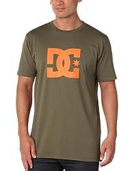 DC Shoes Herren T-Shirt Star Short Sleeve Logo L Marrón (Green)