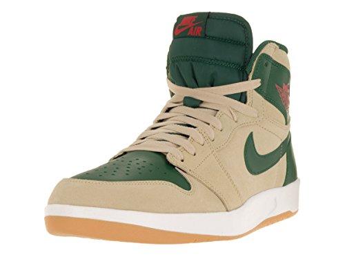 Nike - Air Jordan 1 High The Return, Scarpe sportive Uomo Beige / Rojo / Verde / Blanco (Snd Dn/Unvrsty Rd-Grg Grn-Whit)