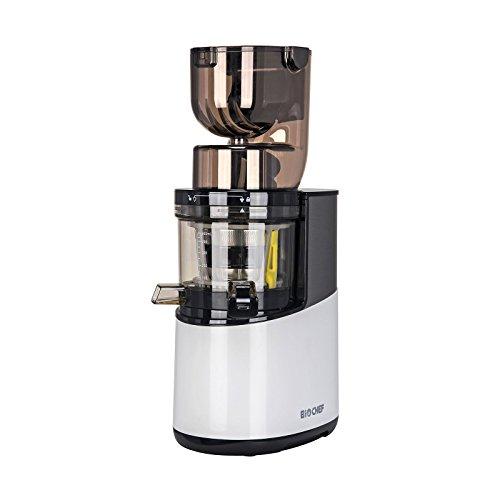 BioChef Altas Entsafter Whole Slow Juicer Pro - Ultra Leistungsstarker Motor, Einfach Gemüse & Früchte Entsaften mit XXL Einfüllschacht, Spülmaschinen Geeignete Einzelteile in Weiß