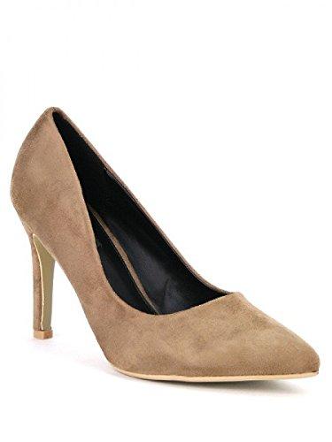 Cendriyon, Escarpin Simili peau cuir beige LIA Chaussures Femme Beige