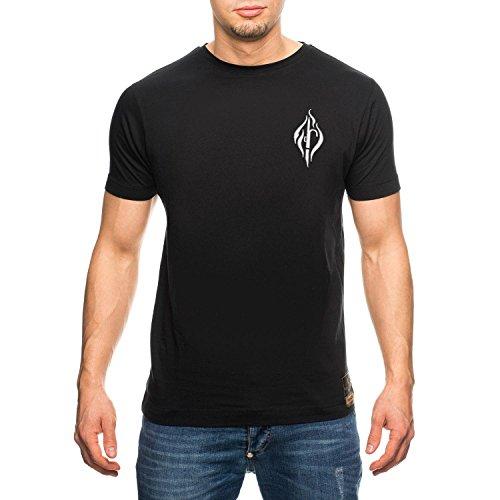 Feuerwehr Männer T-Shirt Basic Line FIRE - Farbe black, Größenauswahl:XL (T-shirt Emt-schwarz)