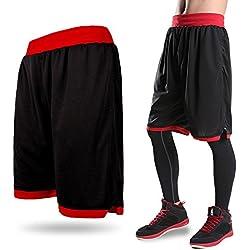 Lorata Pantalones Cortos de Baloncesto para Hombres Deportivo Atletismo Transpirable