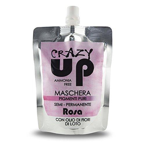 Crazy Up Maschera Colore Tinta per Colorazione Capelli Semi Rosa