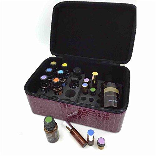 Décorations de bijoux de stockage de haute qualité Sac de maquillage Huile étui de transport pour huile essentielle Sac de rangement pour 72 bouteilles avec poignée PU