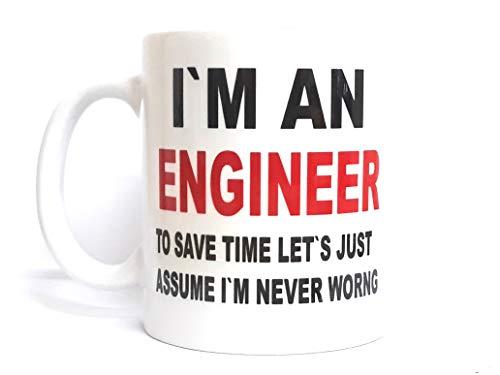 Im An Engineer Cute Coffee Mug Ceramic Inspirational Gifts For Kids Women Girls Birthday