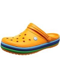 Crocs Clogs Crocband Rainbow Band - Blazing Orange