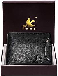 Hornbull Men's Black Rigohill Leather Wallet
