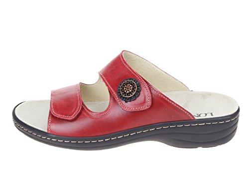 Skechers 3074262-4 4, Mules pour Femme Rouge