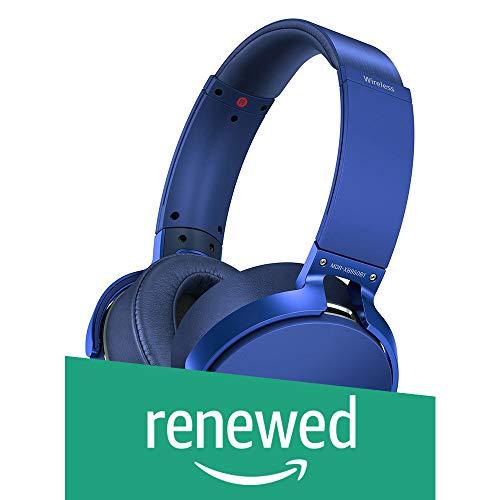 Renewed  Sony MDR XB950B1 On Ear Wireless Extra Bass Headphones  Blue