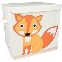 Grinscard Spielzeugkiste Reineke Fuchs mit Deckel - Beige 35 x 33 x 33 cm - Toy Box Spielzeug Lagerung & Transport preisvergleich bei kinderzimmerdekopreise.eu
