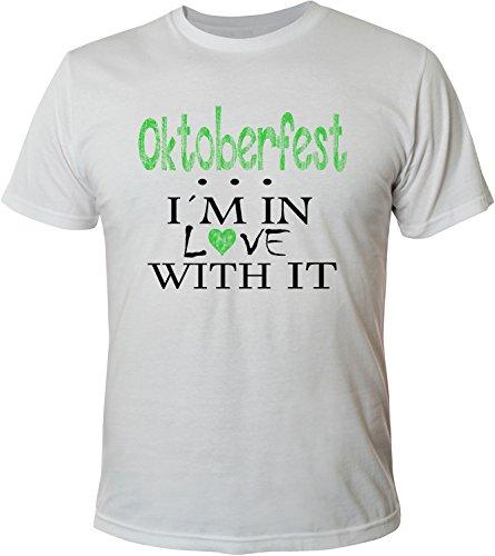 Mister Merchandise Herren Men T-Shirt Oktoberfest - I´m in love Tee Shirt bedruckt Weiß