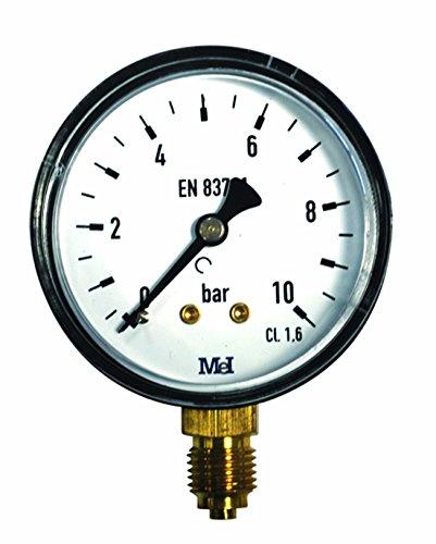 Manometer 0-10 Bar Durchmesser 50 Gew. 1 4'' Radial