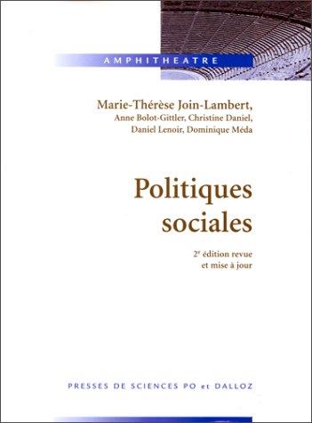 POLITIQUES SOCIALES. 2ème édition revue et mise à jour
