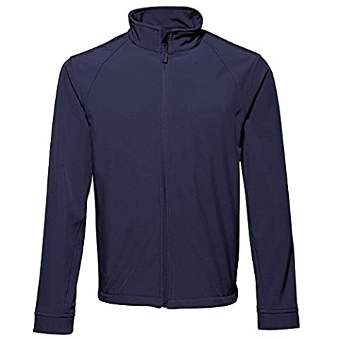 Mens Softshell Jacket 2786 Zip through Cadet Collar with Storm Flap and Chin Guard Windproof and Water Resistant. (XXX-Large,