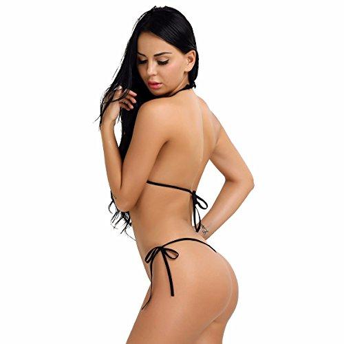 YiZYiF Sexy Dessous Set Damen Reizwäsche Unterwäsche BH und Bikini Slip Dessous Korsett Reizwäsche Gelb